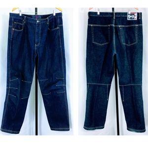 90s Vtg Phat Farm New York Baggy Denim Jeans